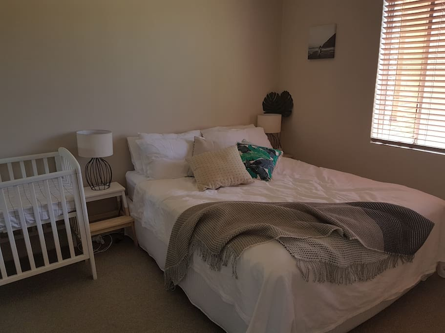 Queen size bed and cot