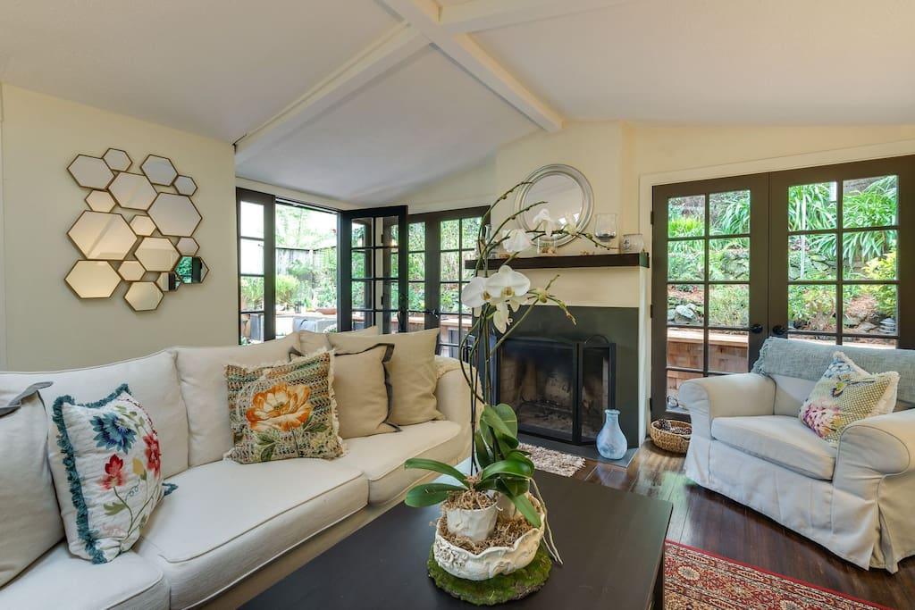 Light bright airy living room