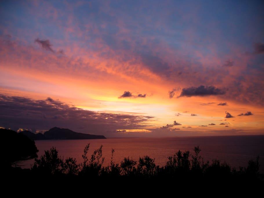 Tramonto su Capri