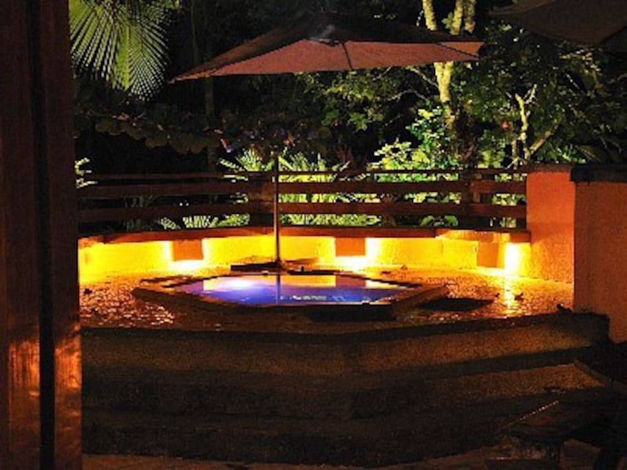 Room Temperature Jacuzzi to cool off night or day!