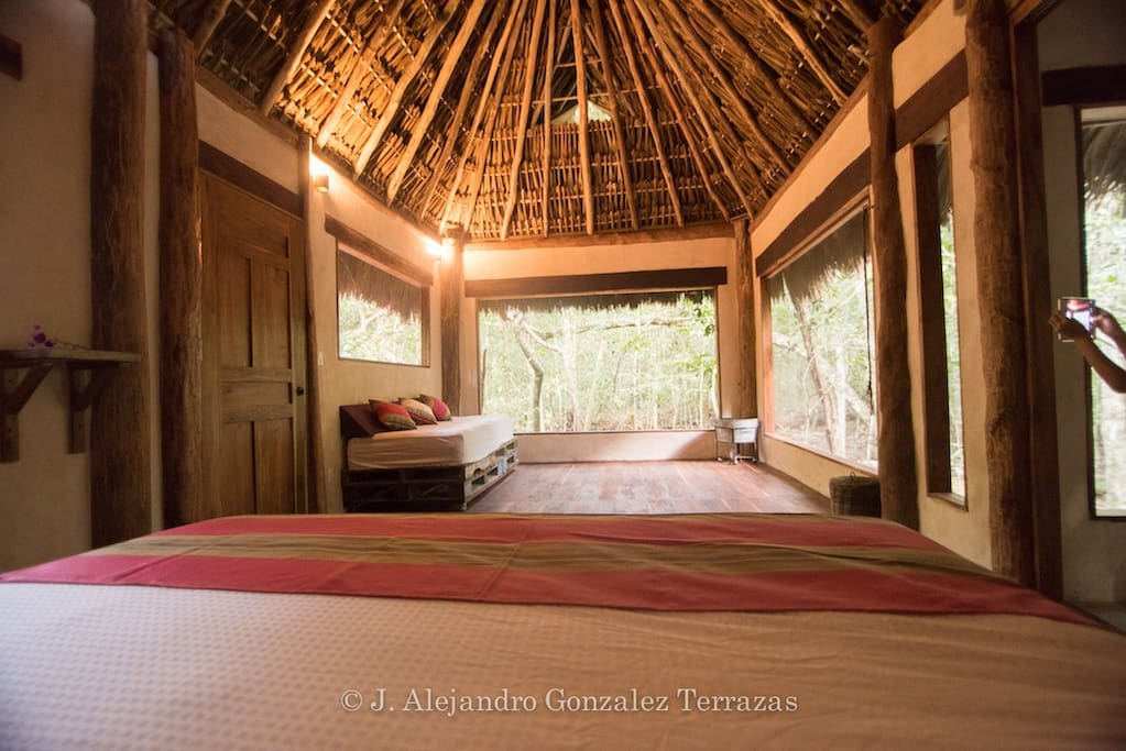 This is the view from your bed, all surrounded by nature