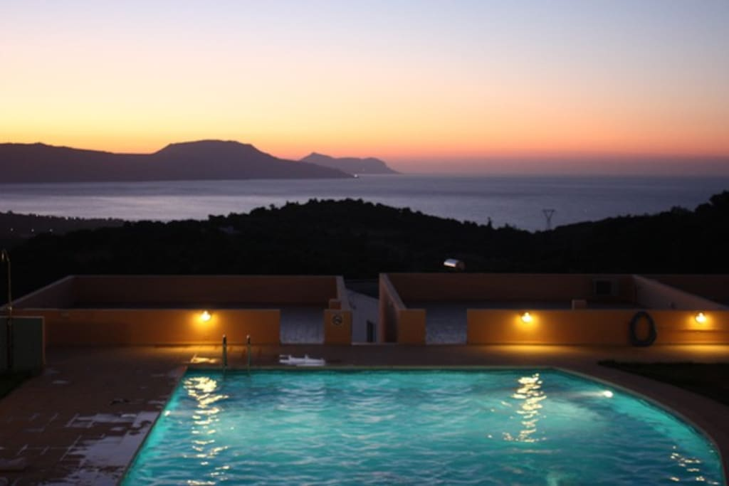 Night view from the pool area!!!