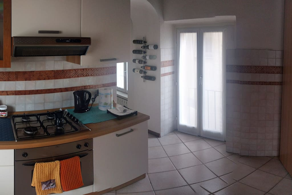 My kitchen with everything you need: fridge, oven, boiler, cookers, sink, etc.