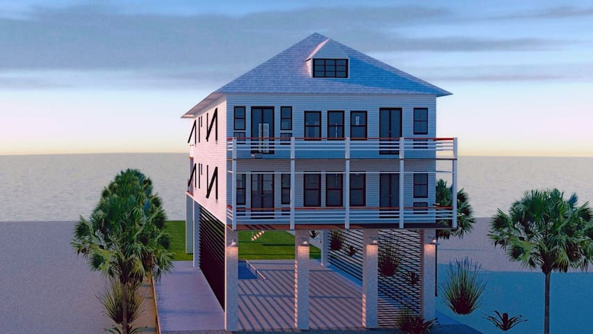 New! Large Oceanfront Sanctuary! 10BDRM, Sleeps 40 - Ocean Isle Beach - House