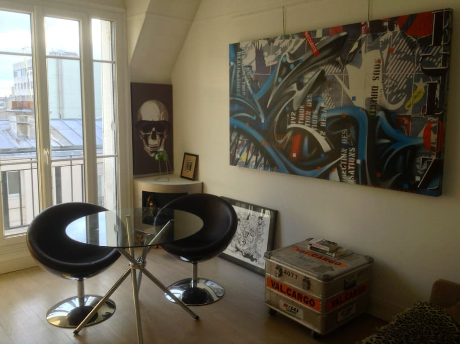The arty living room