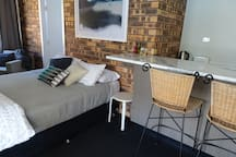 Self contained bedsit area