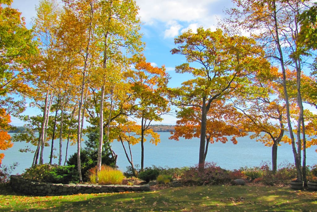Leaf peepers delight at the gorgeous fall foliage set against ocean views.