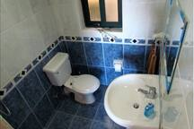En suite Shower with wc and wash hand basin.