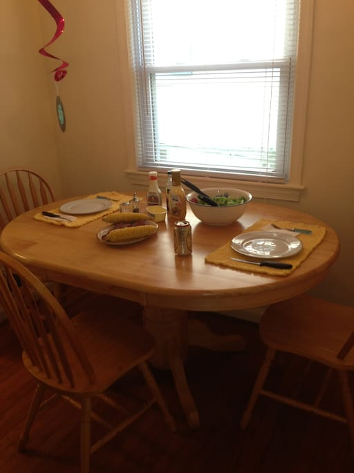 In addition to our shared kitchen, you can eat in our breakfast nook.