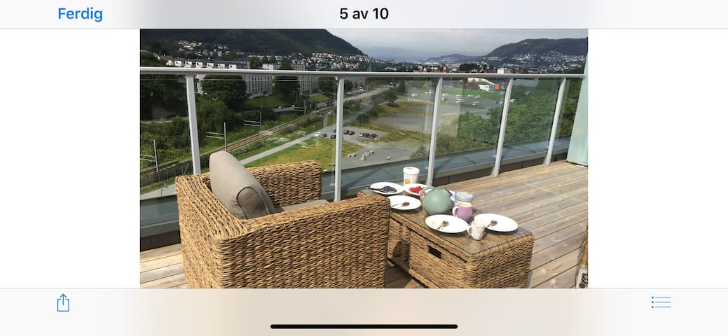 Penthouse apartment. Nearby  BERGEN city.