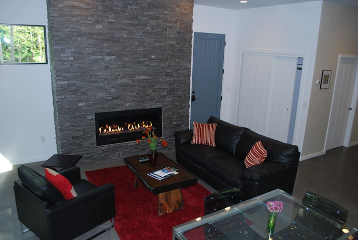 Unwind by the gas fireplace for the ultimate unwinding experience.
