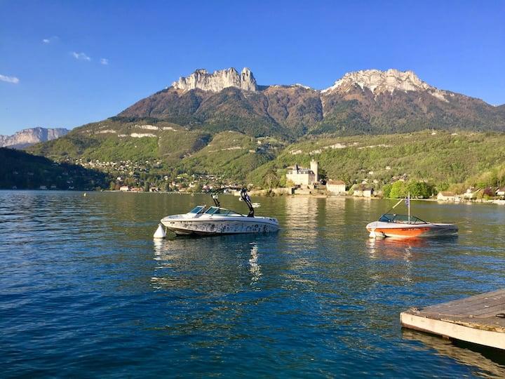Aux Petites Pagaies-Pieds dans l'eau- Lac d'Annecy