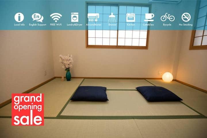 Osaka Umeda Blue #Tatami-Private Room, Umeda, River View