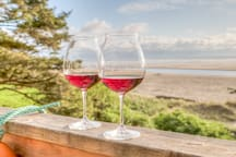 Relax away any stress with wine and the views