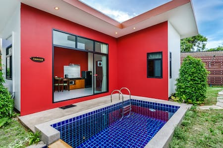 1LA#  -30%: Cozy Private Pool Villa,Comfy Bed,Wifi - Ko Samui