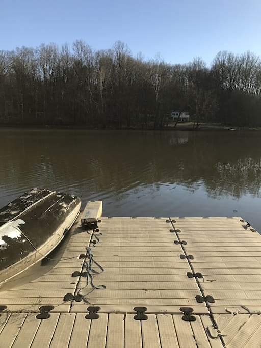 dock which you will have access to as well as rowboat