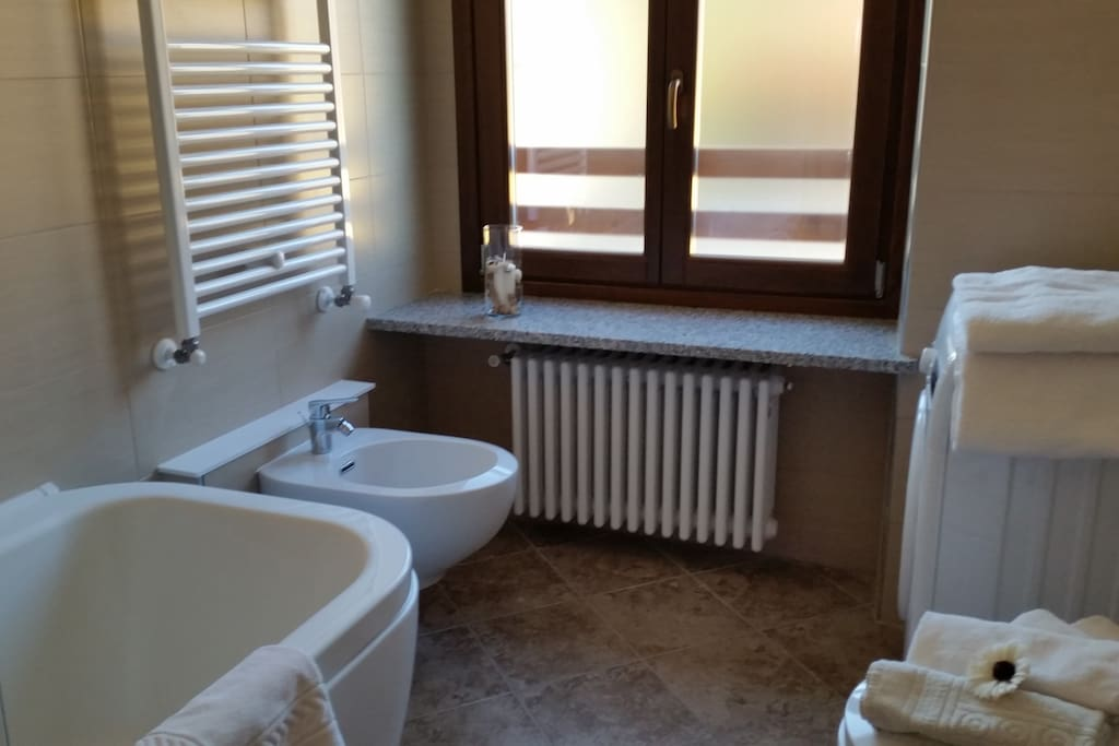 Il bagno privato con Vasca doccia