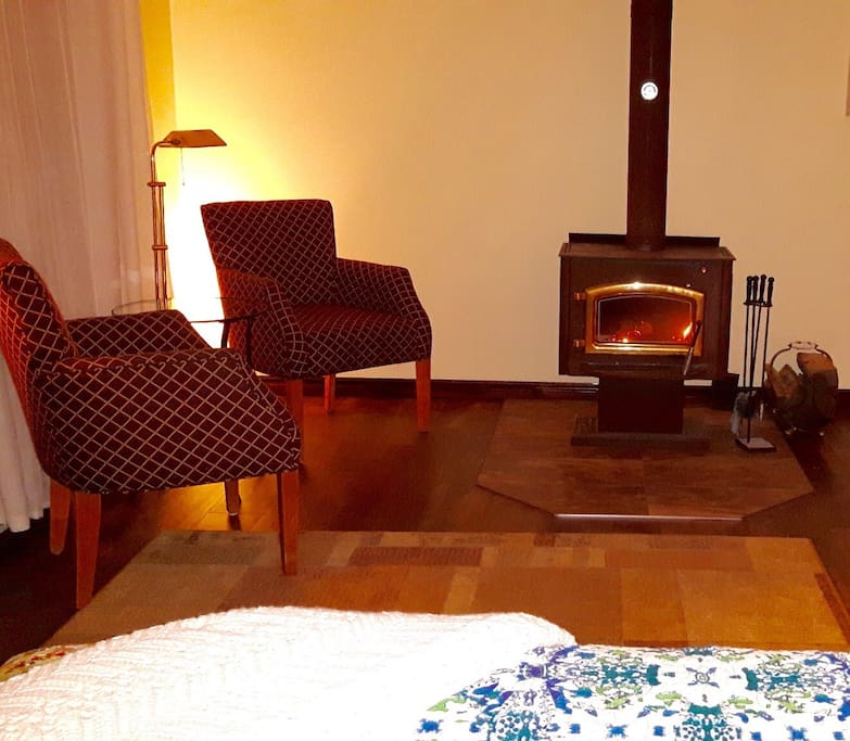 Just ask! Let me know what time you are arriving and request a cozy fire; I will make a fire to warm up your room.
