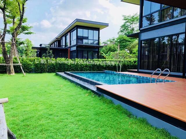 U2家独栋泳池别墅,可烧烤