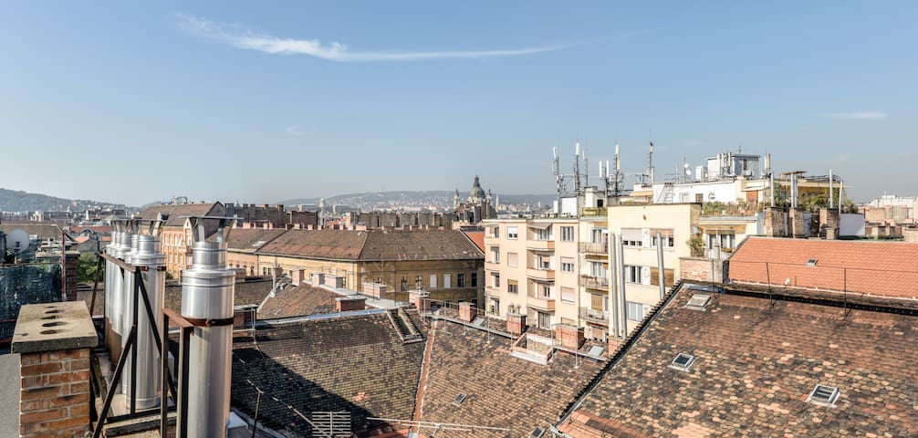 Unique flat in city centre, roof terrace panorama - Budapest - Leilighet