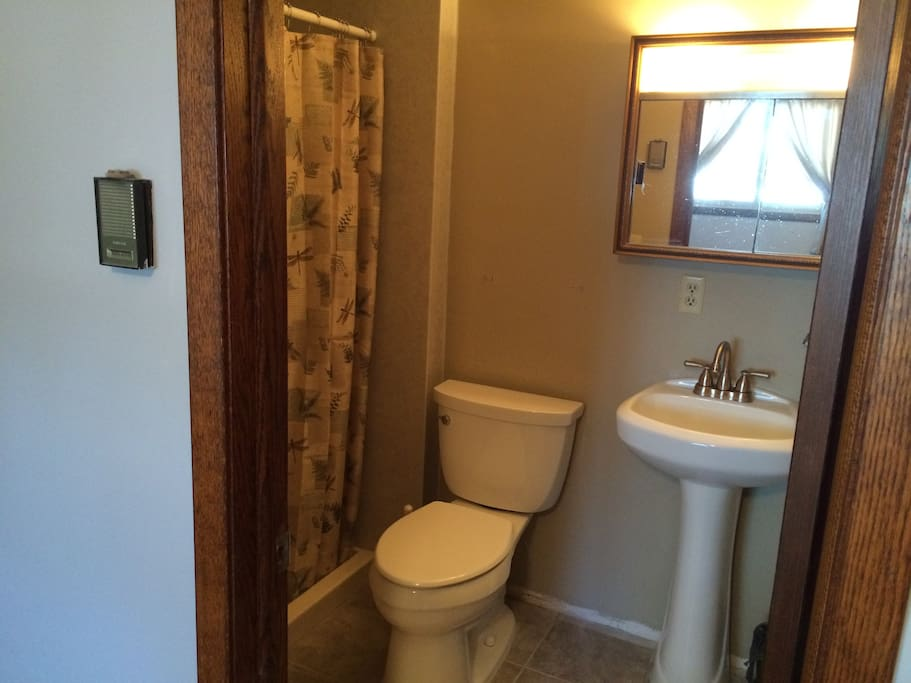 bathroom off of master bedroom