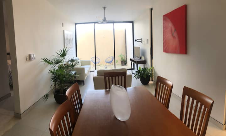 2 BR condo in the north of Merida with terrace