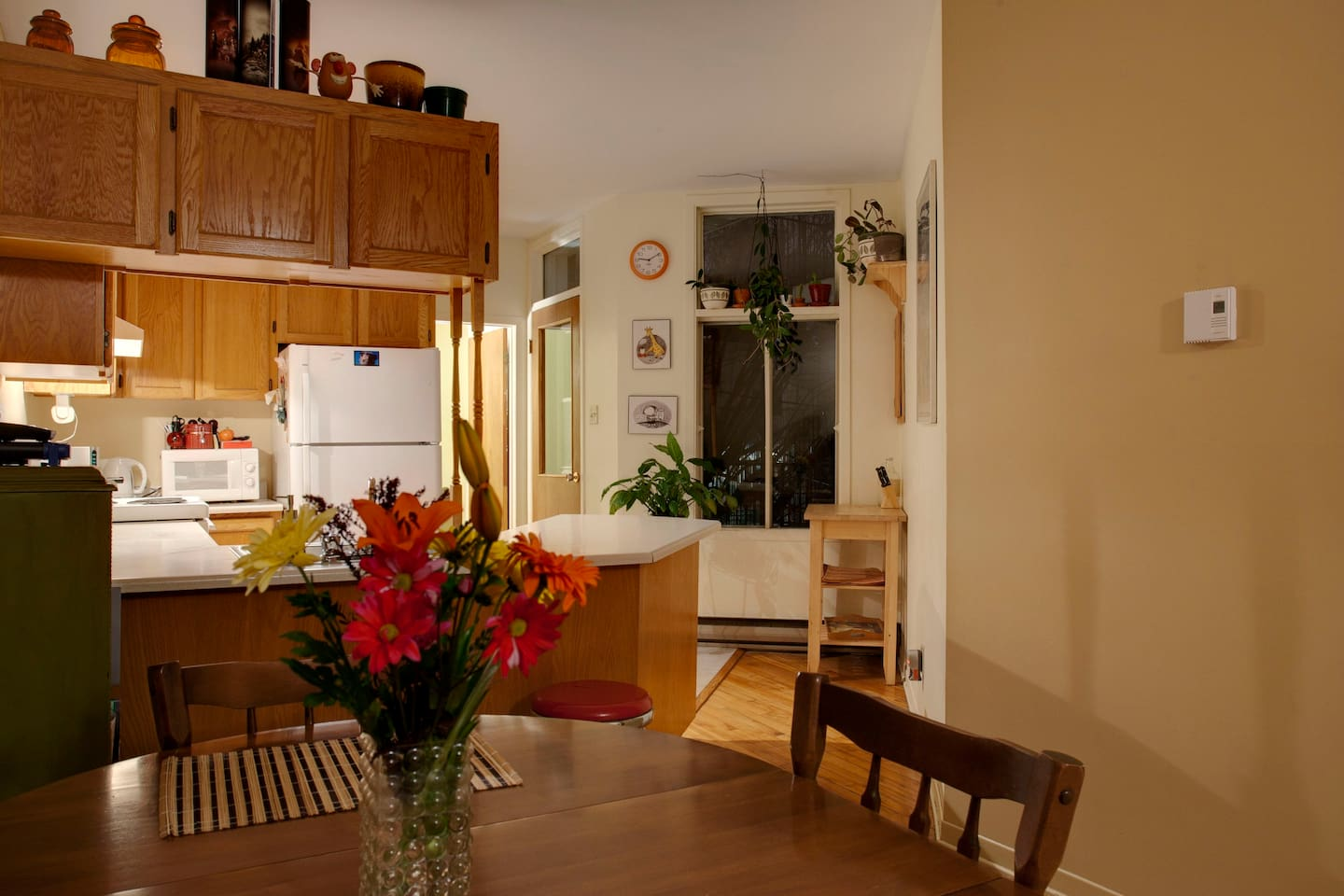 Dining room and full kitchen (shared)