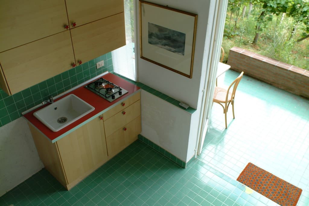 Compact but handy kitchen