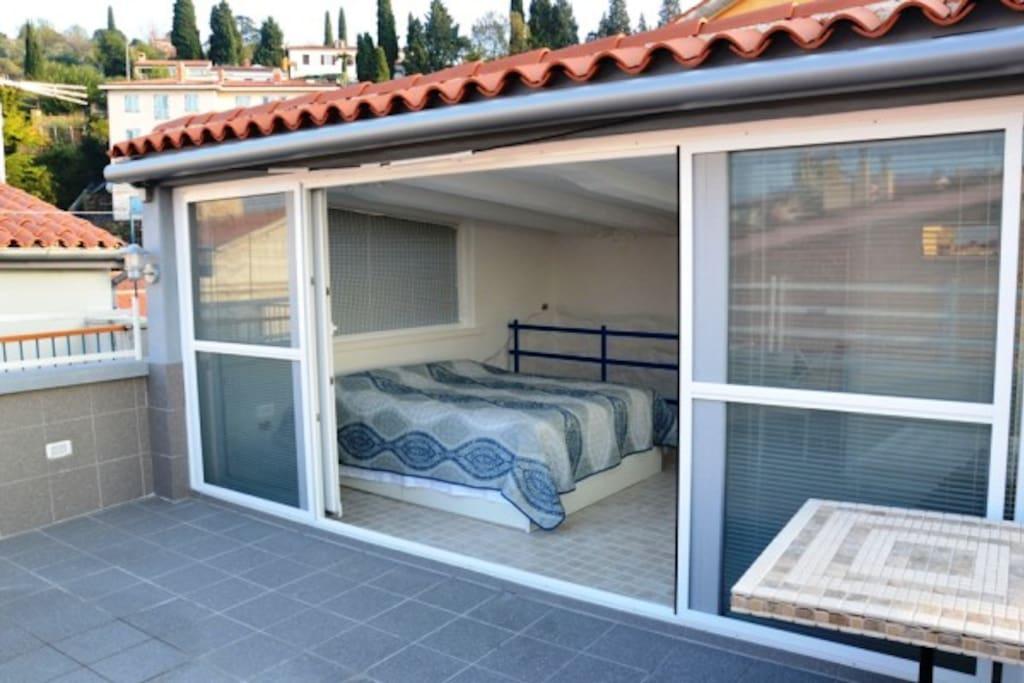 Sebastijan Apartment - Bedroom with a terrace