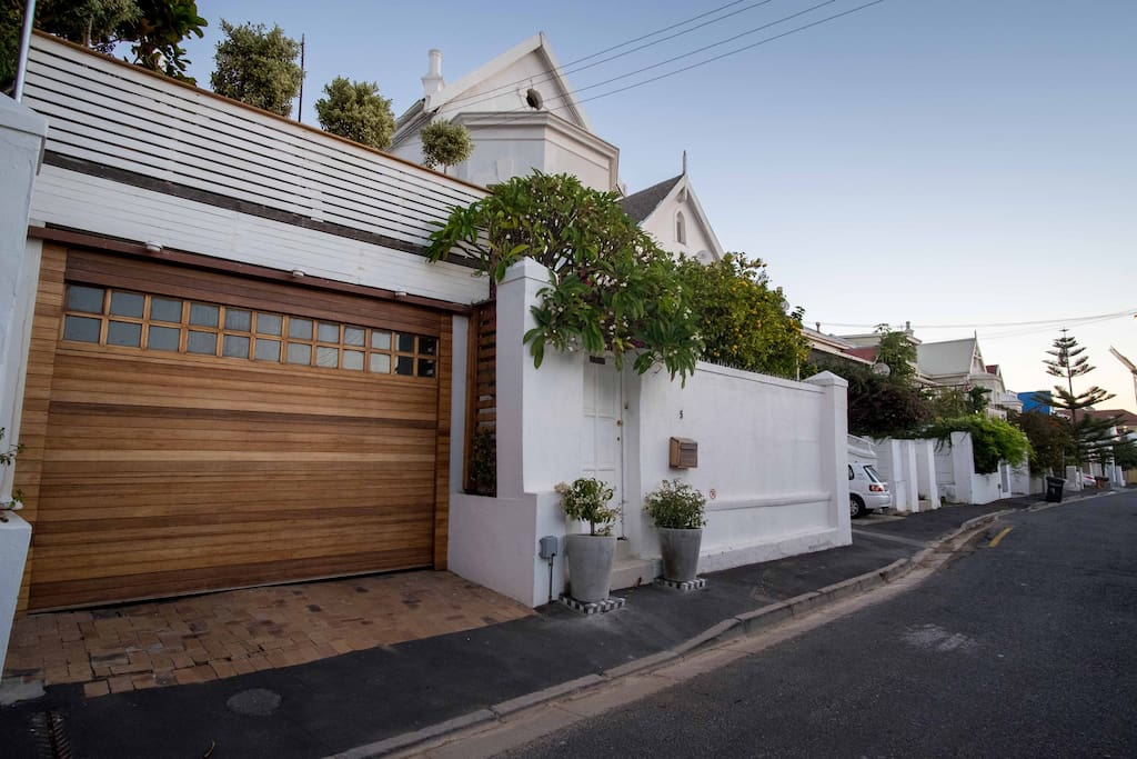 The House is in a quiet street in the heart of Green Point overlooking the bay.