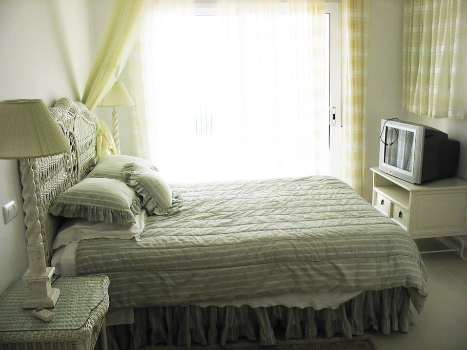 Bedroom 1 opens onto sun terrace