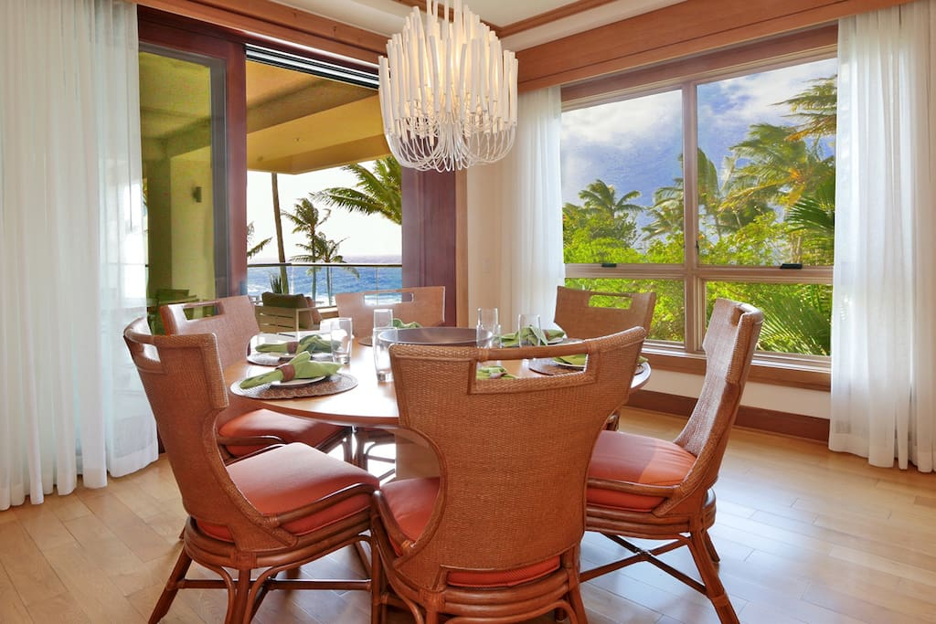 Formal dining room situated perfectly to take full advantage of the breathtaking views.