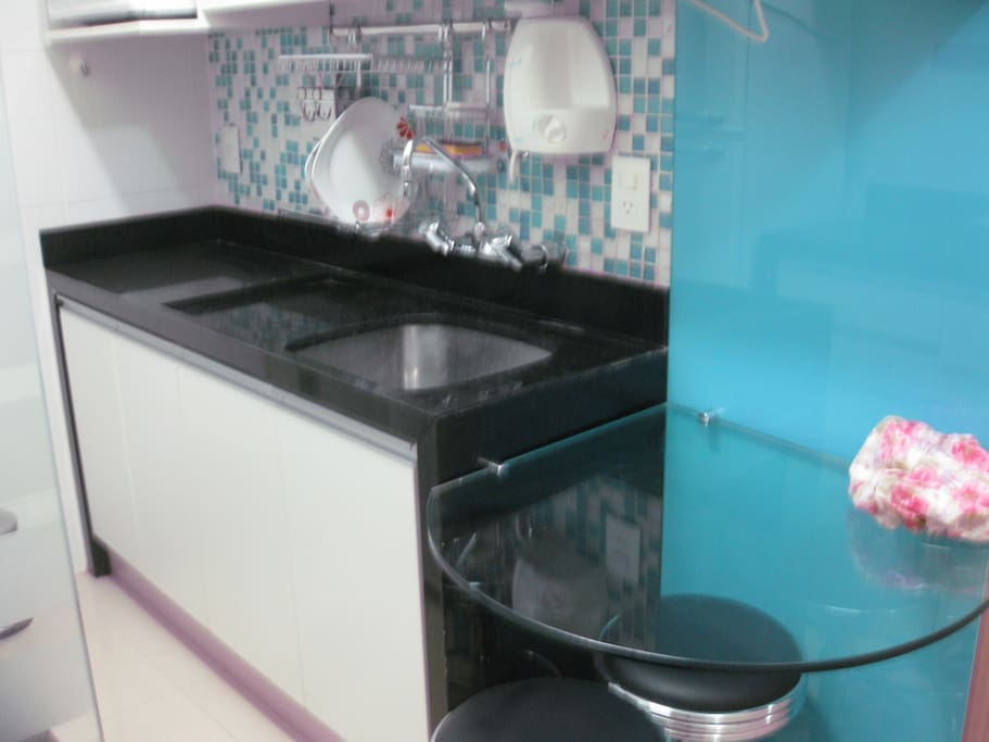 Kitchen Side B + Microwave + electrical Ketle