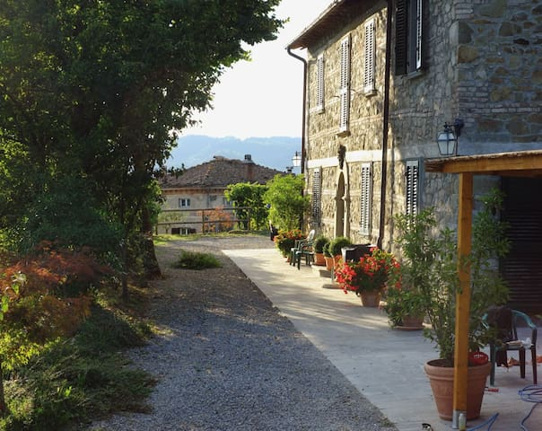 The appartment is on the ground floor from our original stone house