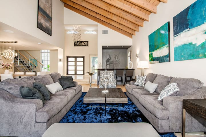 Lounge on 2 sofas in the stunning 2nd living area.