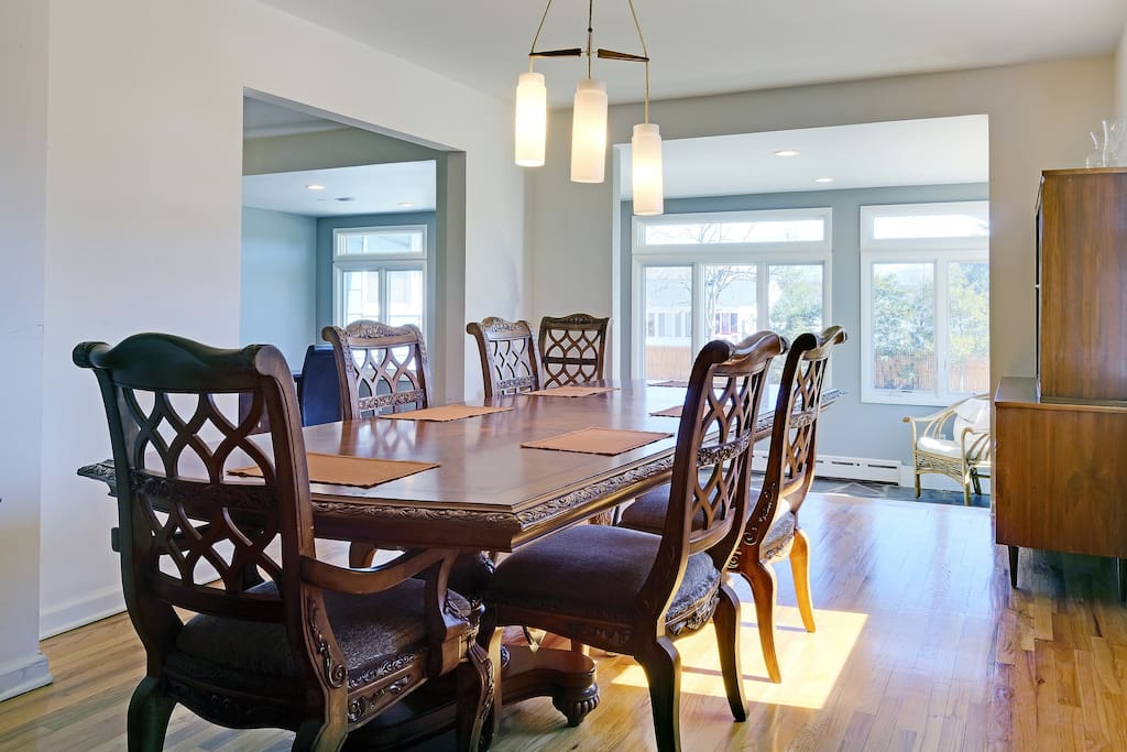 Enjoy Family Dinner... Dining room and sun room