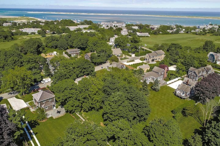 Aerial view with proximity to Chatham Bars Inn,   Chatham Harbor and Chatham Fish Pier