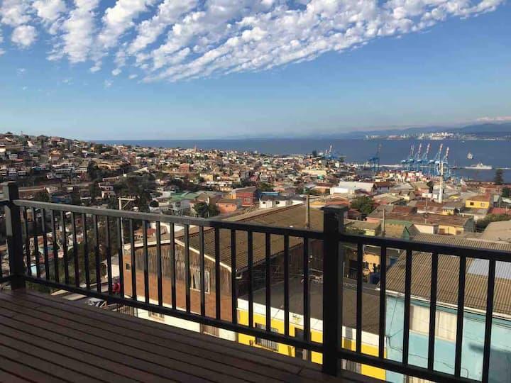 Habitación con hermosa vista al mar Valparaíso
