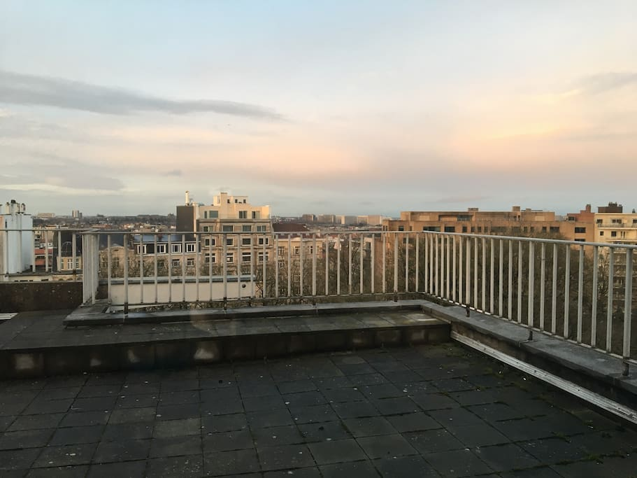 Incredible view from the living room balcony to east Brussels