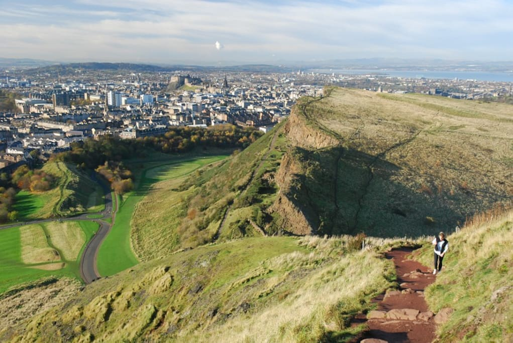 The base of Arthur's Seat is only 5 minutes away... a 20 minute walk to the top and you have the best view in Edinburgh