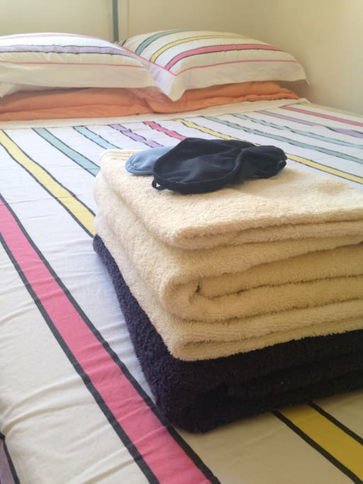 We provide freshly laundered house towels for your stay
