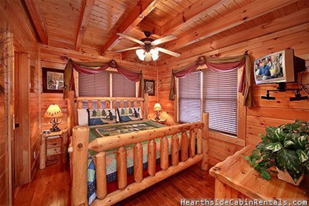 Another one of the 3 bedrooms with a king size bed.