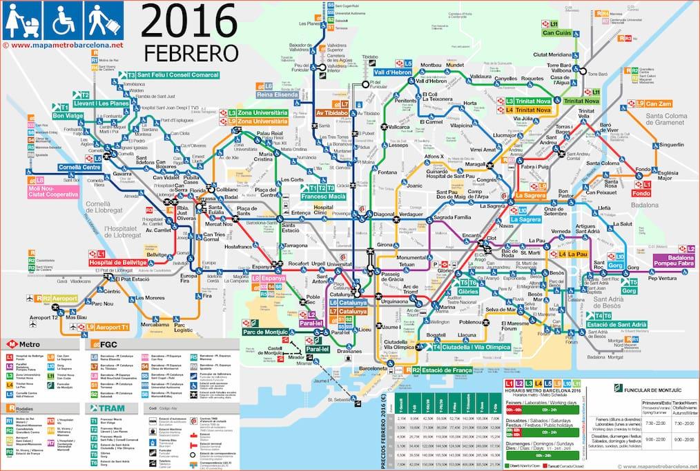 Mapa de Metro de Barcelona