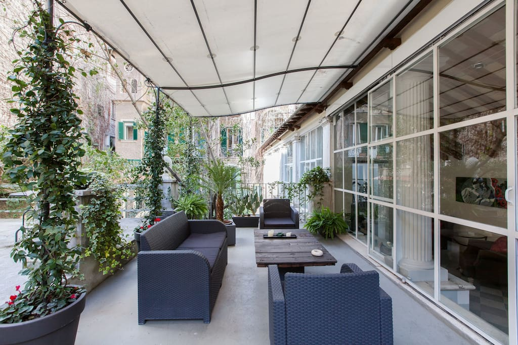 Romantic Terrace Loft In Spanish Steps Apartments For