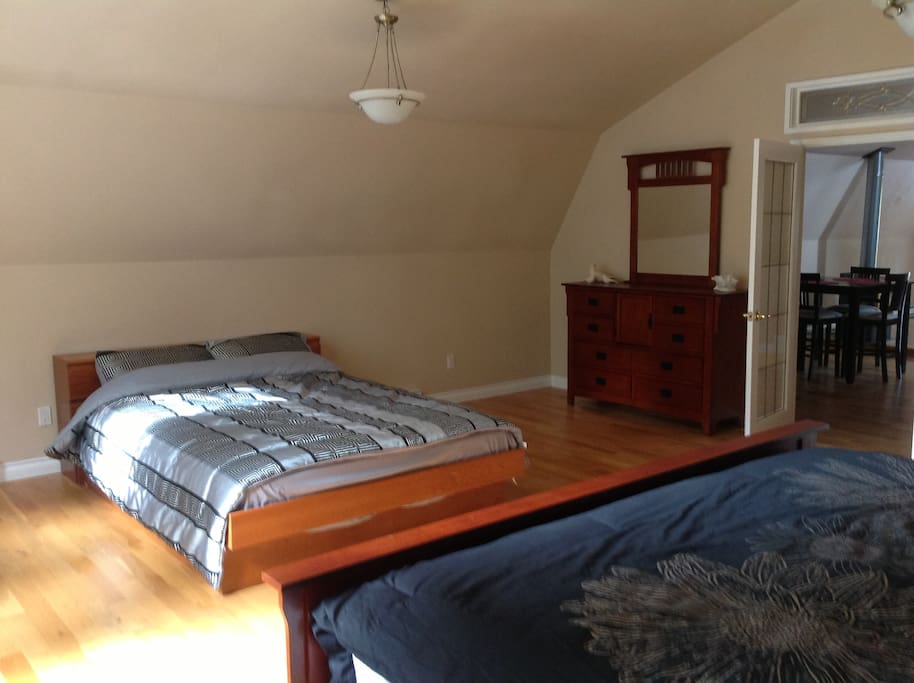 Extremely large room with 1 King and 1 Queen bed, sleeps 4 comfortably