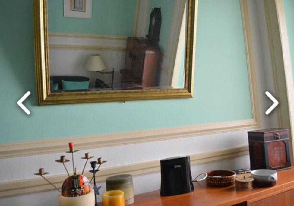 Sala grande com pormenores , de decoração de arte Deco!