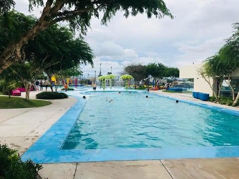 Habitación privada en Condomino RESORT 4 piscinas