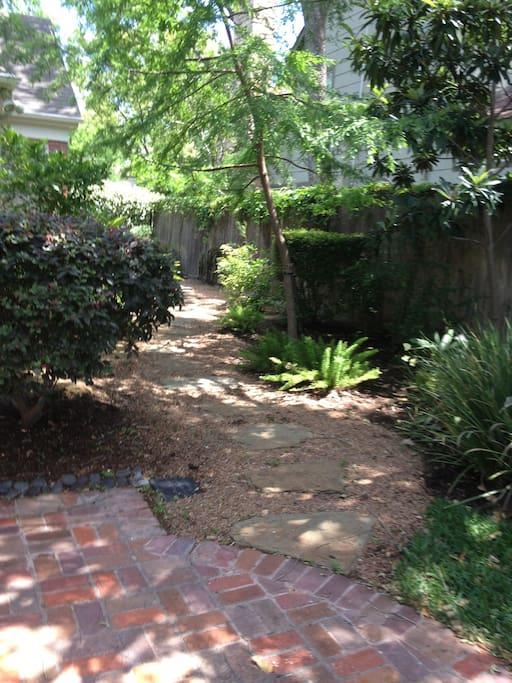 backyard garden path