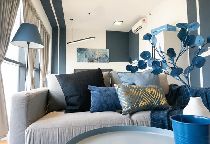 {NEW} Dual Key-Blue Sapphire Suite @Damansara, PJ