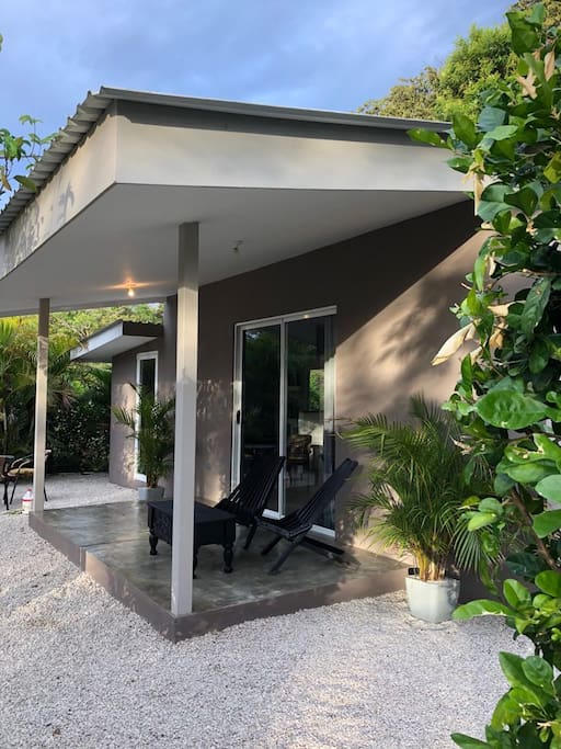 Terrace setting Cabin #1
